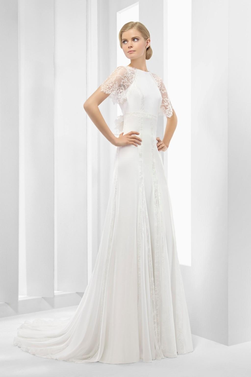 свадебные платья А силуэта