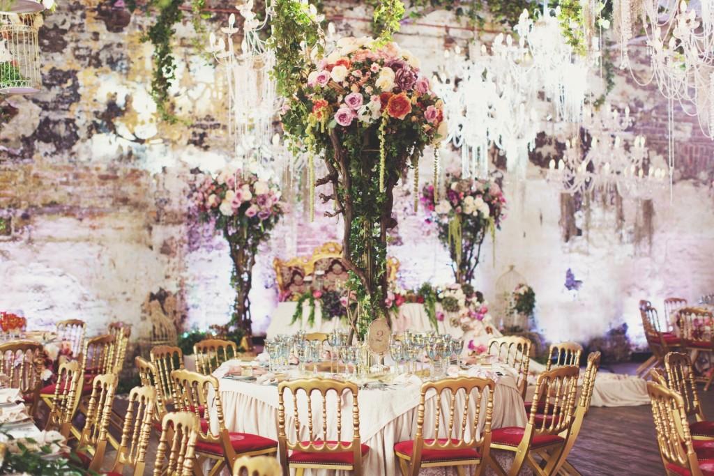 свадебный стол декор