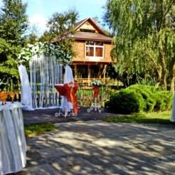Экстерьер усадьбы Заречены во время свадьбы