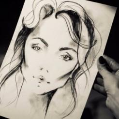 Первый пример работы художника
