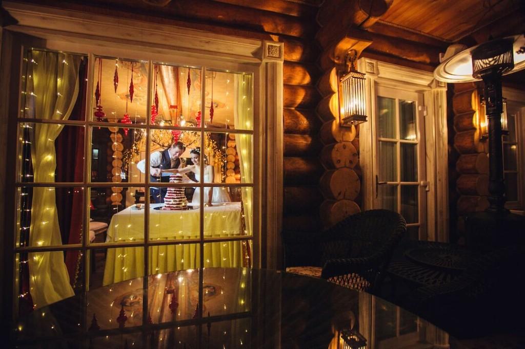 зимняя свадьба в русском стиле