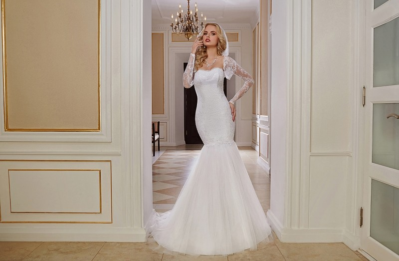 Свадебное платье на американской невесте