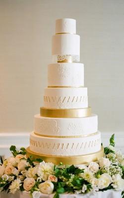 золотой торт на свадьбу