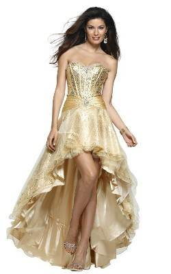 золотое свадебное платье