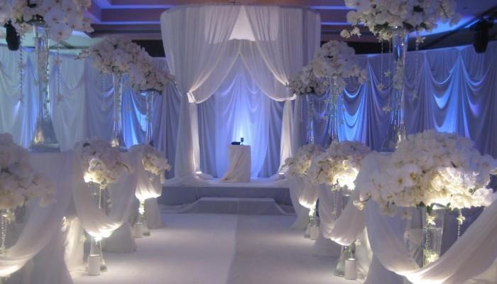 декор свадьбы тканью фото