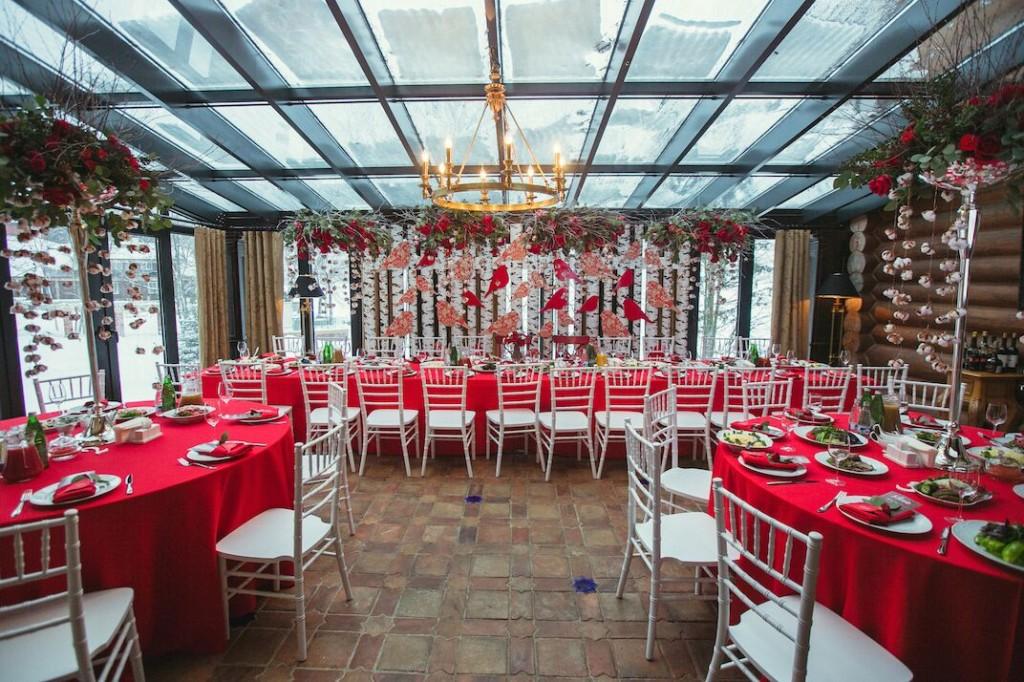 декор свадьбы в русском стиле