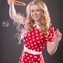 Второй пример шоу мыльных пузырей Екатерины Тихоновой Showtime