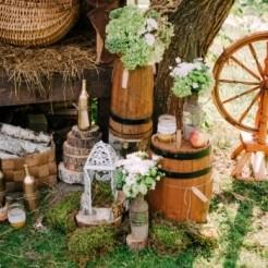 Свадебный декор в усадьбе Заречены