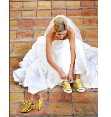 смена обуви невесты