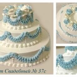 Девятый пример свадебного торта