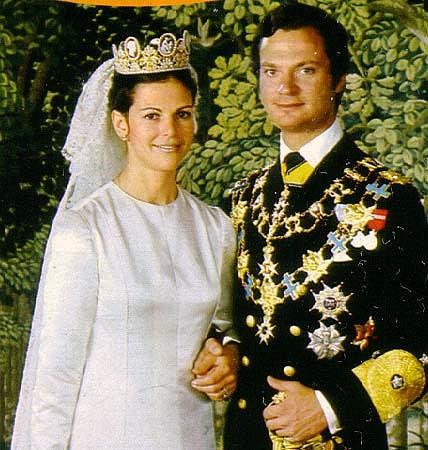свадебная тиара свадьба Сильвии и карла Густава