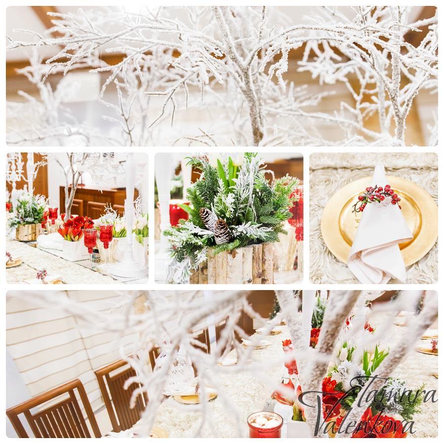 зимний свадебный декор фото