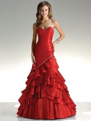 Красное платье на свадьбу