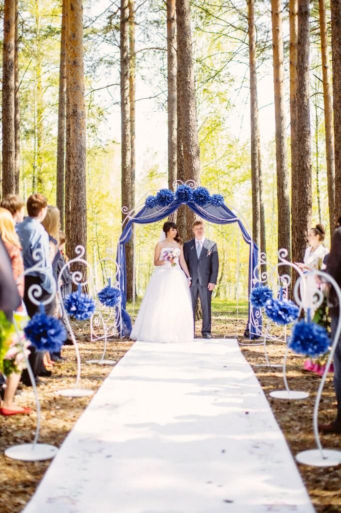 синяя свадьба невеста
