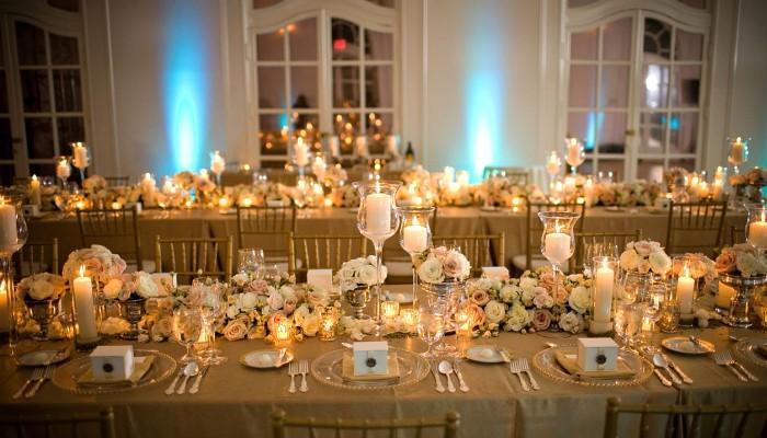 декор свадьбы в золотом стиле