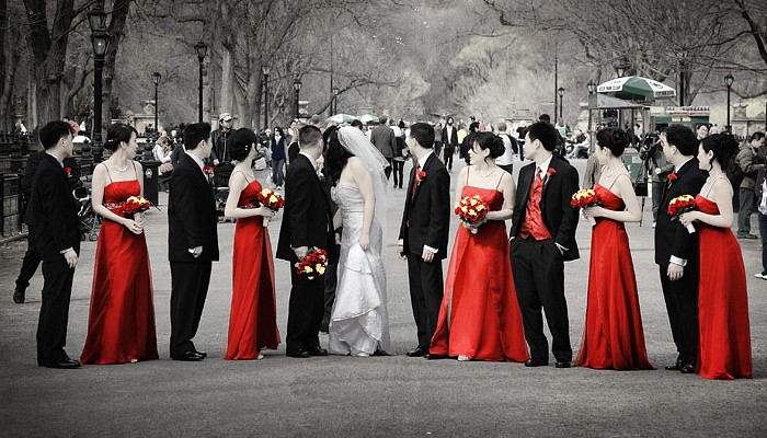 Красная свадьба фото