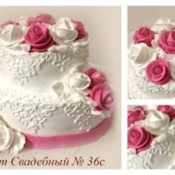 Восьмой пример свадебного торта