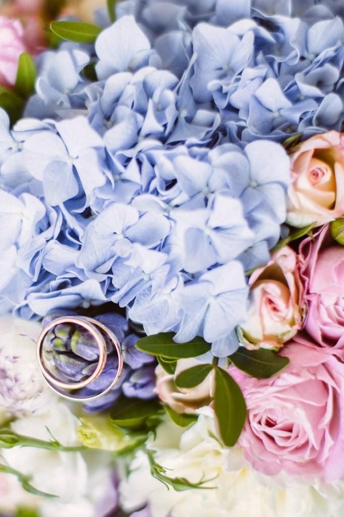 свадьба в сине белых тонах