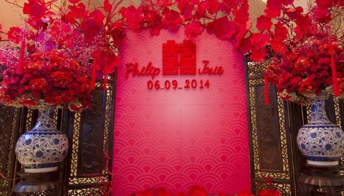 красная свадьба декор