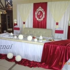 Украшенный свадебный стол