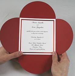 приглашение цветок