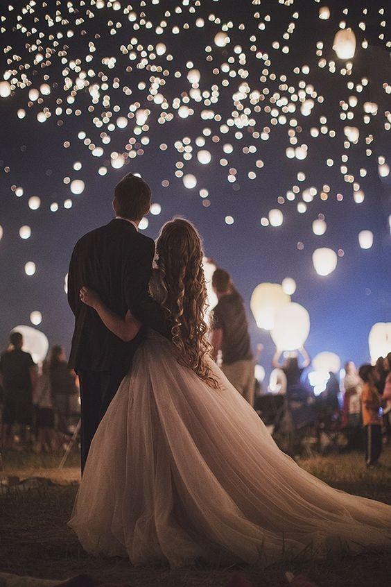 подарок на свадьбу небесные фонарики