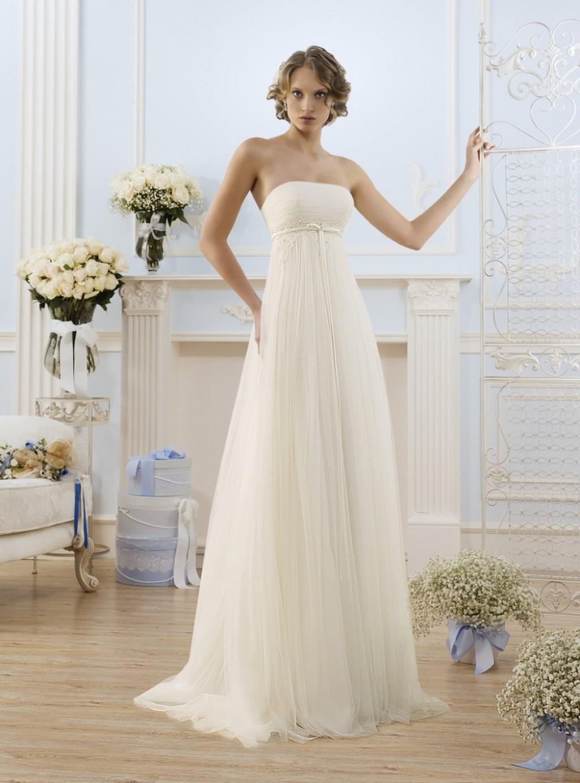 свадебное платье в                               стиле ампир