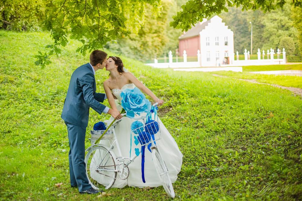 синяя свадьба фото