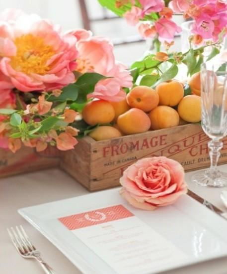декор свадьбы фруктами