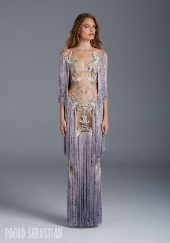 платье с бахромой от кутюр