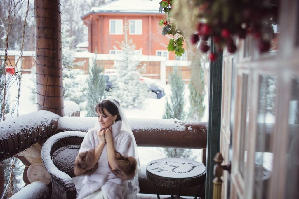 свадьба в россии зимой