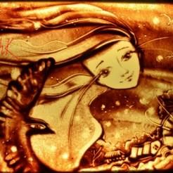 Второй пример песочного шоу Марины Тарк