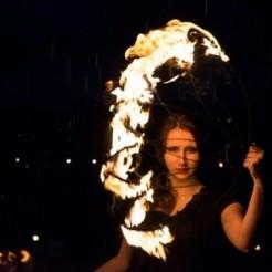 Начало шоу программы огня