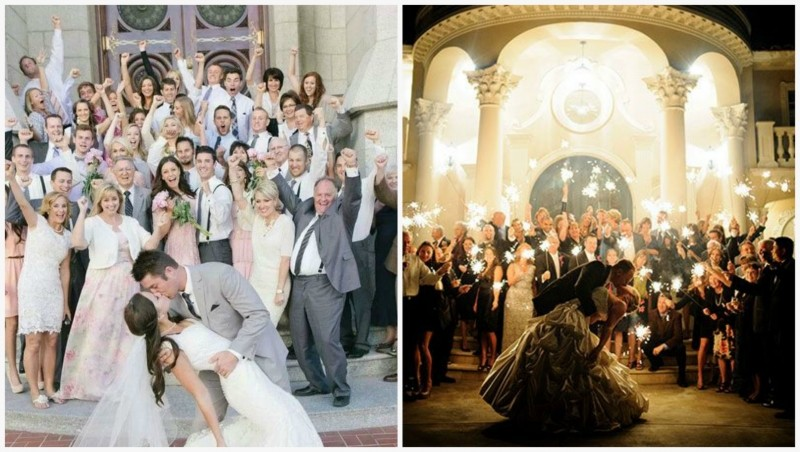 Еще пример фото со свадьбы