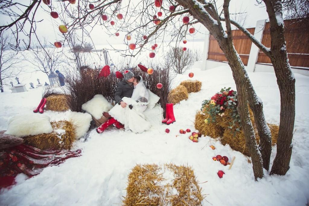 фотозона свадьбы в русском стиле