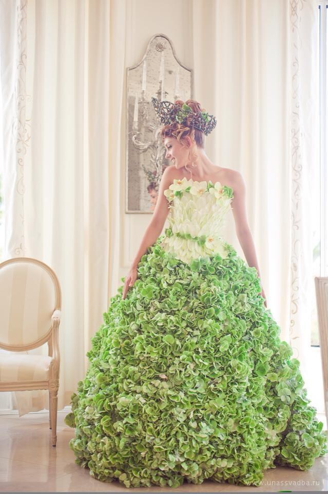 Живое платье невесты