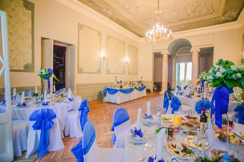 синяя свадьба оформление