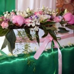 Первый пример свадебного оформления Мята