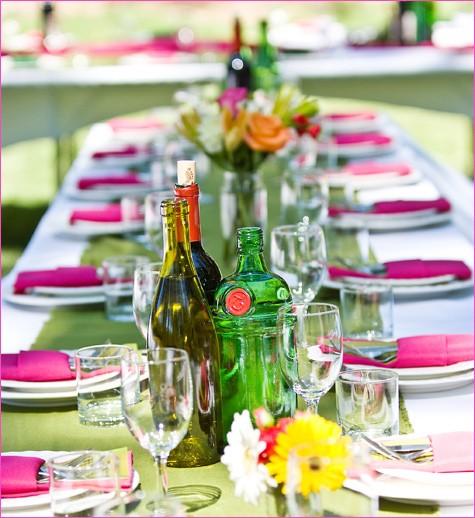свадебный стол летом