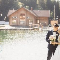 Абстрактный вид на свадьбу