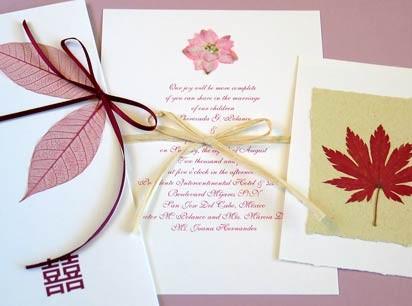 приглашения листья