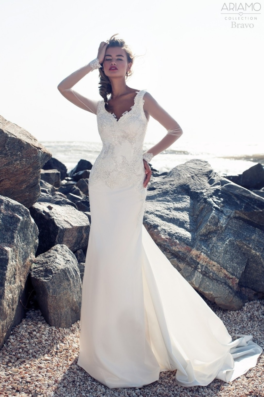 Прямой силуэт свадебное платье
